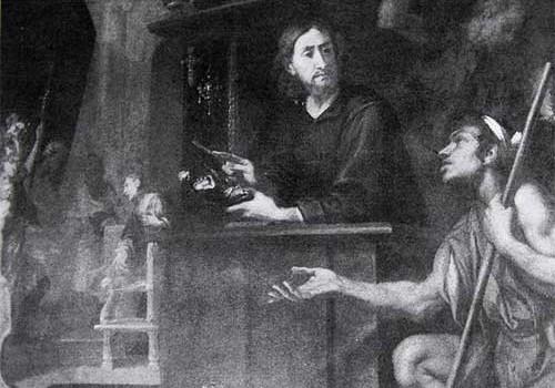 S. Eligio e il Mendicante (particolare)