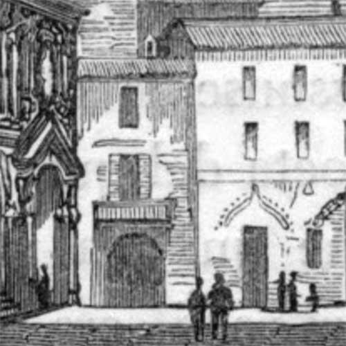 Porta degli Orefici, Milano 1852
