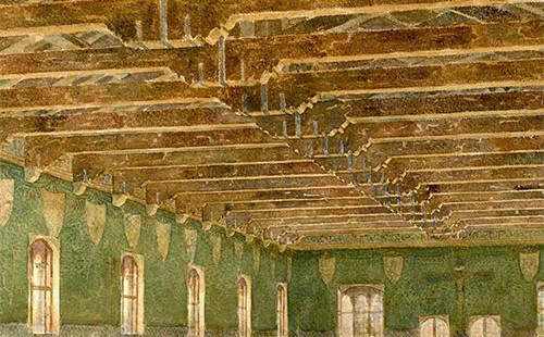 Palazzo della Ragione, ricostruzione della sala interna
